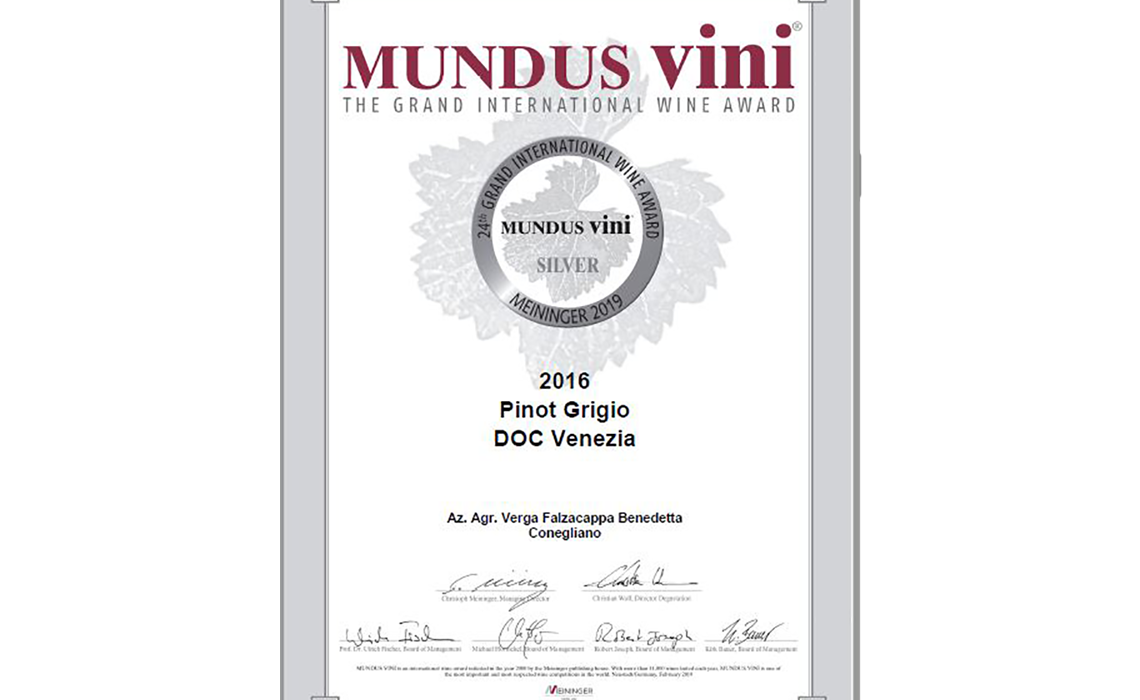 Mundus Vini Certificate _ Silver Medal